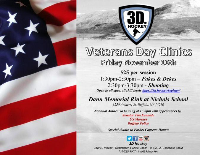 2017 Veterans Day Clinics 3D Hockey
