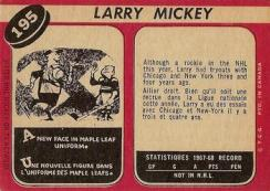 Larry Mickey Maple Leafs